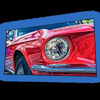 "EluneVision 133"" 2.35:1 Aurora NanoEdge Reference 4K Fixed-Frame Screen - EV-ZL-133-1.0-2.35"