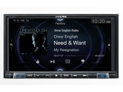 Alpine 7-Inch Mech-Less Audio/Video Receiver - iLX-207