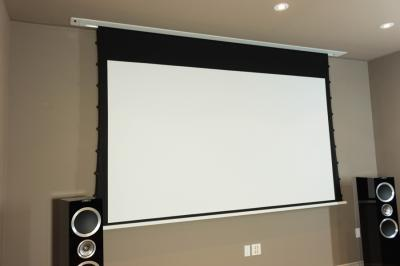 "EluneVision 92"" 16:9 Tab-In Ceiling Motorized Reference 4K Screen-EV-TIC-92-1.0"