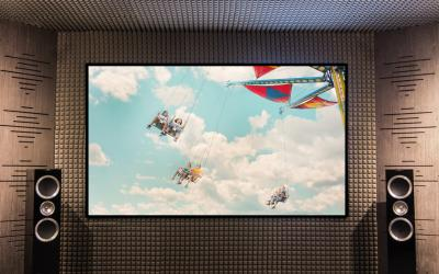 EluneVision 100'' 16:9 Reference 4K Audioweave Slim Fixed Frame - EV-SAW-100-1.15