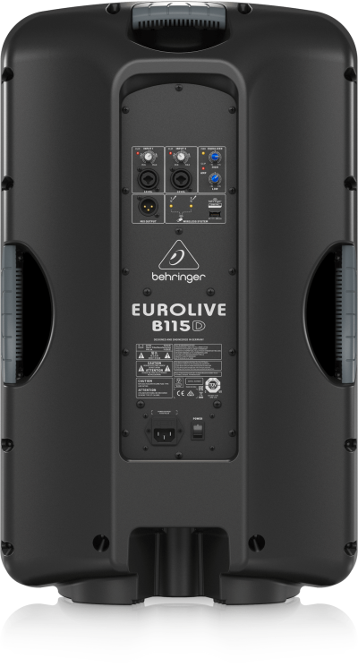 Behringer Active 2-Way PA Speaker System with Wireless Option and Integrated Mixer - Eurolive B115D