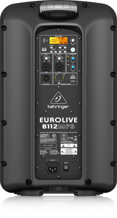 Behringer  Active PA System with MP3 Player - Eurolive B112MP3