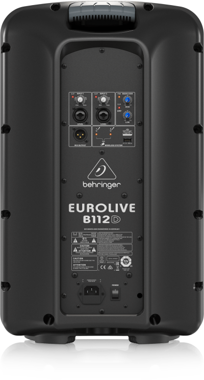 Behringer Active 2-Way PA Speaker System with Wireless Option and Integrated Mixer - Eurolive B112D