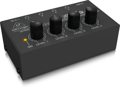 Behinger Ultra-Compact 4-Channel Stereo Headphone Amplifier - HA400