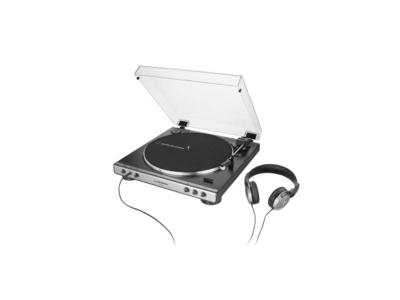 Audio Technica Fully Automatic Belt-Drive Turntable with Headphones - AT-LP60XHP