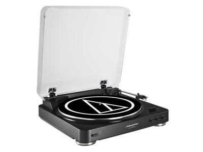 Audio-Technica Fully Automatic Belt-Drive Stereo Turntable - AT-LP60BK