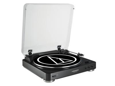 Audio-Technica Fully Automatic Belt-Drive Stereo Turntable (USB & Analog) - AT-LP60BK-USB