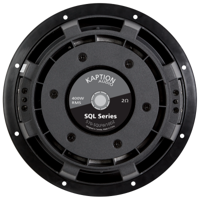Kaption Audio SQL Series Flat SubWoofer 400 Watt RMS Dual 2 Ohms - 570-SQLFW10D2
