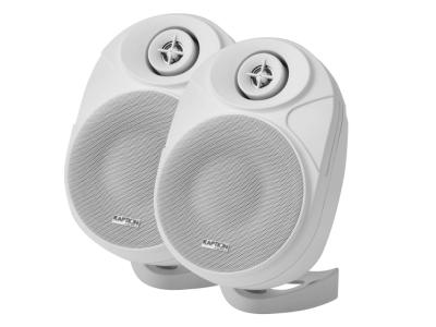 Kaption Audio 6.5 Inch Indoor/Outdoor Weather Resistant Speakers In White - 570-OS650WH