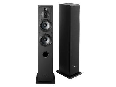 "Sony - Core Series Dual 5"" 3-Way Floorstanding Speaker (Each) - Black SSCS3"