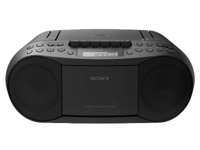 SONY CD/CASSETTE BOOM BOX WITH RADIO - CFDS70BLK