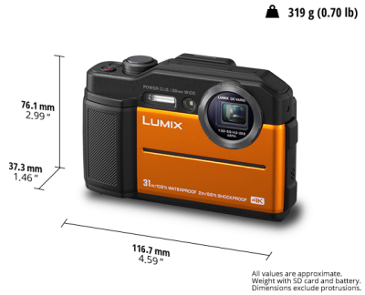 Panasonic Undefeated Toughness Digital Camera in Orange - DCTS7(o)