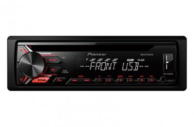 Pioneer CD Receiver with Mixtrax and USB Control for Certain Android Phones - DEH-X1910UB