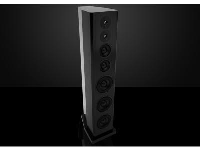 Bryston Floorstanding Speaker With Triple 8 Inch Bass Drivers In Black Ash - Model T Passive (Ash)