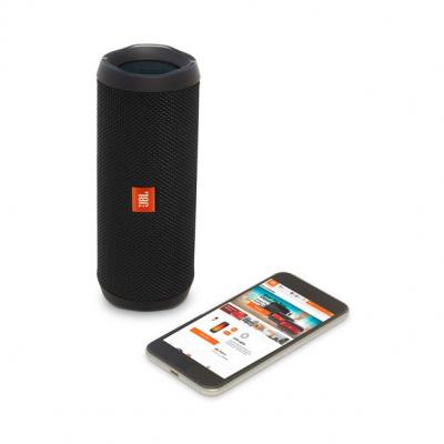 JBL full-featured waterproof portable Bluetooth speaker with surprisingly powerful sound Flip 4 (B) JBLFLIP4BLKAM