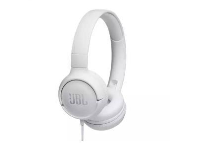 JBL Tune 500 Wired On-Ear Headphones - JBLT500WHTAM