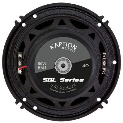 "Kaption Audio 6.5"" SQL Coaxial Speakers (Pair) with External Crossover-570-SQL622X"