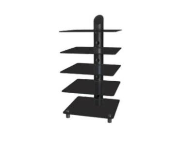 Sonora Metal & Glass Audio Stand Gloss Black - 126-D-N