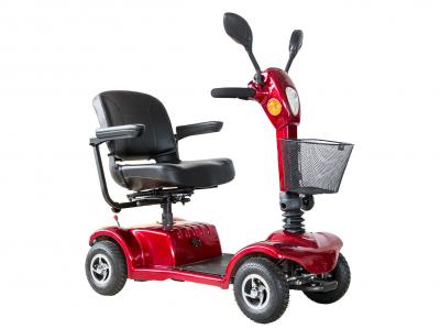 Daymak 250W , 24V Mobility Scooter in Red - Boomerbuggy IV (R)