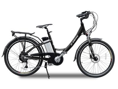 Daymak Electrical Bicycle With 48V Removable Lithium Battery In Black - Paris 48 (B)
