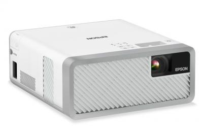 Epson EF-100 Mini Laser Streaming Projector with Android TV in White - V11H914220