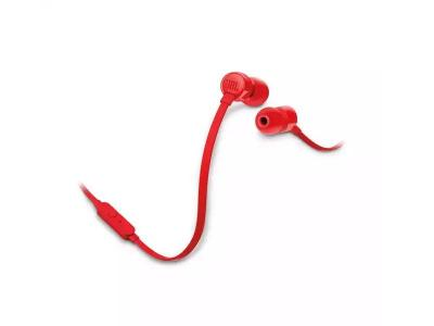 JBL TUNE 110 In-Ear Headphones - JBLT110REDAM