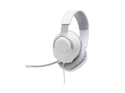 JBL Quantum 100 Wired Over-Ear Gaming Headset - JBLQUANTUM100WHTAM