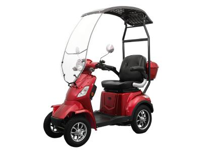 Daymak Roof Mobility Scooter With Built In Backup Camera In Red - Roadstar 4 Wheel (R)