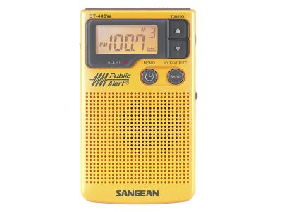 Sangean AM / FM Digital Pocket Radio With Weather Alert - DT400W