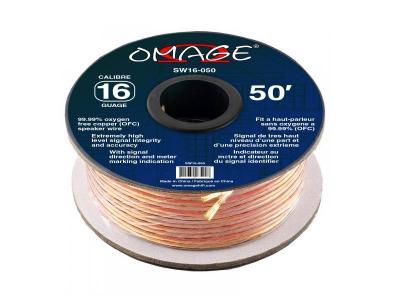 Omage 50 Foot 16 Gauge Oxygen Free Copper Speaker Wire - SW16-050