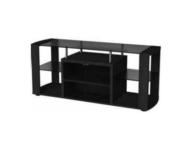 Sonora TV Stand With Tempered Dark Glass Shelves - S55V77N