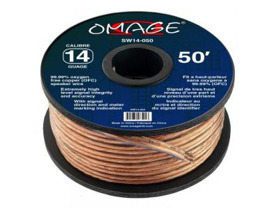 Omage 14-Gauge 50 Foot Oxygen Free Copper Speaker Wire - SW14-050