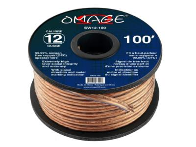 Omage 12-Gauge 100 Foot Oxygen Free Copper Speaker Wire - SW12-100