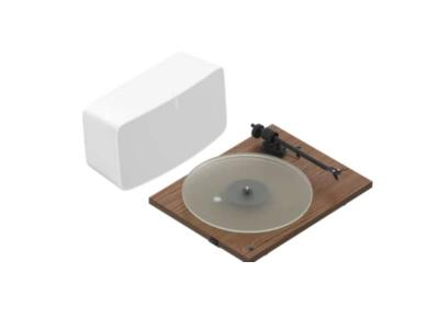 Sonos Vinyl Set Five Project Turntable (Walnut) - Vinyl Set (Walnut)