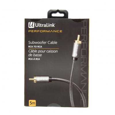 Ultralink 5m Subwoofer Cable Rca - ULP2SW5