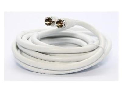 Ultralink 12 Ft Rg6 Coaxial Cable W/f Connector White Ultralinkhome UHRG612C