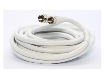 Ultralink 50 Ft Rg6 Coaxial W/f Connector White Ultralinkhome UHRG650C
